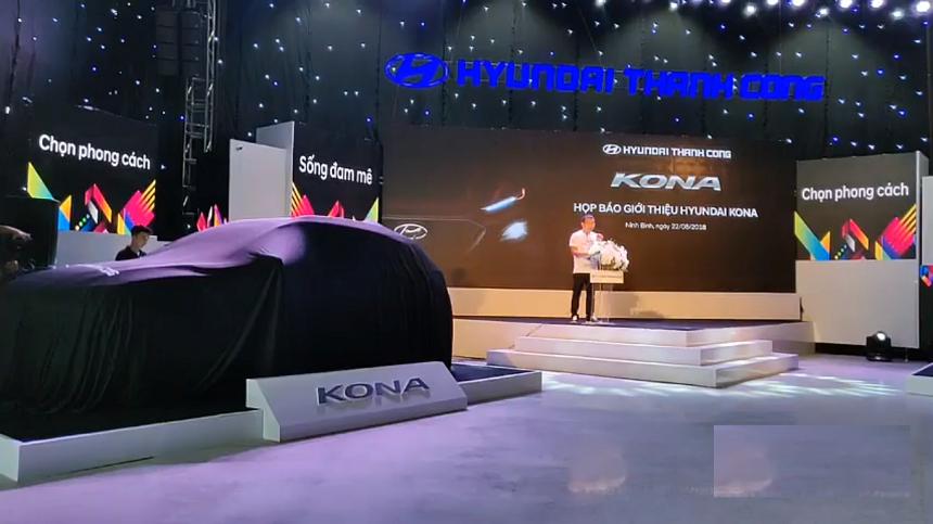 lễ ra mắt xe kona 2018 của hyundai thành công
